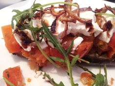 Roast Aubergine with Tomato Salsa at Hungry Guest Cafe in Petworth