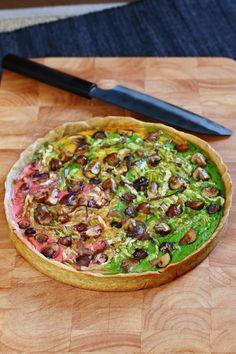 Rezept für vegane Gemüsequiche mit leckerem Rosmarin-Knusperboden von Sophia Hoffmann mit Teutoburger Ölmühle Rapskernöl KALT-WARM-HEISS