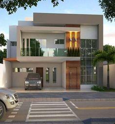 Architecture House Minimalist modern minimalist house design ideas for your 43 > Fieltro. Modern House Facades, Modern Exterior House Designs, Dream House Exterior, Modern House Design, Exterior Design, Modern Buildings, Bungalow House Design, House Front Design, Contemporary House Plans