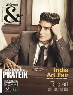 Prateik Babar On the Cover Of Andpersand Magazine!!!