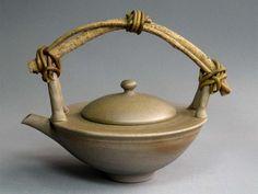 Tokoname Teapot with vine handle, Jinshu0033
