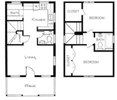 Tiny House Floor Plans 16x30 tiny house -- #16x30h6g -- 873 sq ft - excellent floor plans