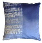 shibori half pillow - blue