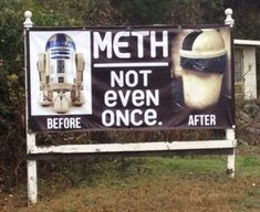 He just couldn't cope with what George Lucas did with thoseprequels…. (find more funny photos on FunnySigns.net)