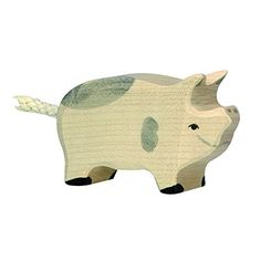 Wooden Dappled Piglet