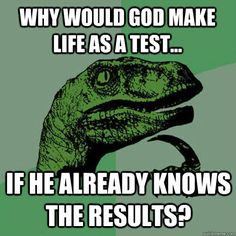 why would god make life as a test... if he already knows the results?