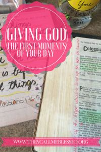 Giving God The First