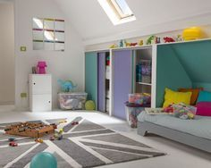 Chambre enfant : 31 idées de chambres sous les combles | Chambre ...
