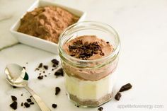 Low-Carb 15 minute Chocolate Chia Protein Pudding Unmixed