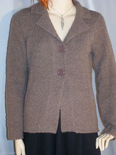 Target knitted cardigan size 10 collared brown wool blend by sprocket2chain - $13.55