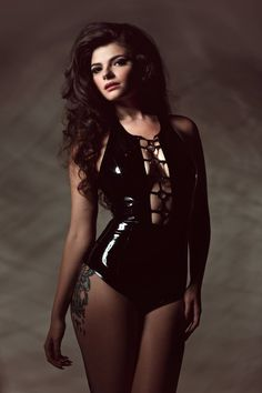 Hex latex o-ring swimsuit lingerie playsuit bodysuit Boudior Outfits, Sexy Outfits, Cute Outfits, Latex Swimsuit, Latex Bodysuit, Mixed Girls, Latex Girls, Fetish Fashion, Wow Art