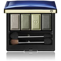 Clé de Peau Beauté Women's Eye Color Quad (210 ILS) ❤ liked on Polyvore featuring beauty products, makeup, eye makeup, eyeshadow, beauty, green and palette eyeshadow