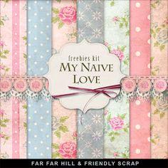 Sunday's Guest Freebies-Far Far Hill Free digital Scrapbook Supplies