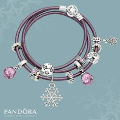 Spend $180.00 on Pandora Jewellery and receive a Pandora triple smooth black or purple leather bracelet. Conditions Apply
