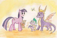 Twilight and Spyro.