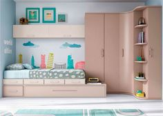 17 Stylish ways to decorate a functional nursery - Teen room Bedroom Cupboard Designs, Teen Bedroom Designs, Home Room Design, Kids Room Design, Small Room Bedroom, Home Decor Bedroom, Child's Room, House Rooms, Girl Room