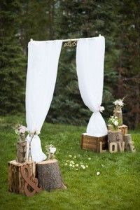 country rustic alter decoration ideas