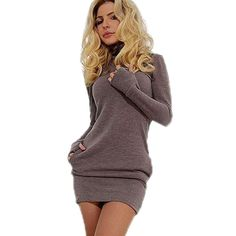 db043eefffac US  18.5  New Fashion Women Spring Dress Sexy Club Party Dresses Long  Sleeve Mujer Solid Mini Bodycon Bandage Vestidos De Fest -in Dresses from  Women s ...