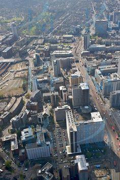 Central Croydon from the air.