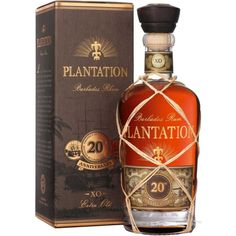 Plantation Anniversary Extra Old Barbados Rum. Aged in bourbon barrels and finished in cognac casks, this rum earned a score of 94 points from the Beverage Testing Institute. Vodka, Tequila, Alcohol Spirits, Wine And Spirits, Bourbon, Alcohol Bottles, Liquor Bottles, Rhum Xo, Sodas