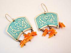 Indian Earrings Boho Earrings Heart Earrings par elisaboutique
