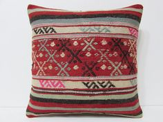 bohemian cushion cover 18x18 crochet pillow by DECOLICKILIMPILLOWS