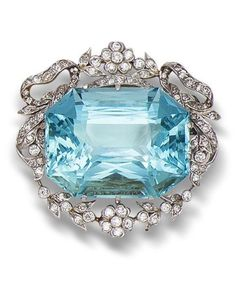 HARRY WINSTON BROOCHES | belle époque aquamarine and diamond ... | Talk To Me, Harry Winston