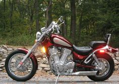 1993-Suzuki-Intruder-VS1400-Red Bobbers, Choppers, Motorcycles, Bike, Vehicles, Red, Motorbikes, Bicycle, Chopper