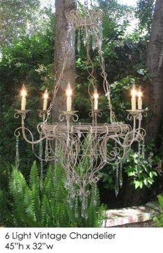 Vintage 6 Light Chandelier from Ztown and Country