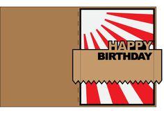 Awesome SVGs: Asahi (Rising Sun) Birthday Card - English and Spanish.