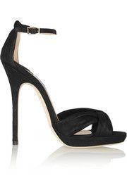Jimmy ChooJada shimmer-leather sandals