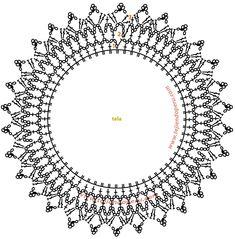 Best 12 crochet patterns in thread – SkillOfKing.Com - Her Crochet Crochet Collar Pattern, Crochet Border Patterns, Crochet Lace Edging, Crochet Fabric, Crochet Mandala, Crochet Diagram, Irish Crochet, Crochet Crafts, Crochet Doilies