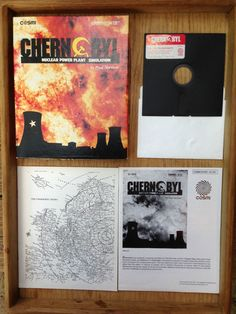 Chernobyl Nuclear Power Plant Simulation Cosmi for Commodore 64/128 Program 1987