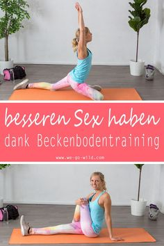 These yoga poses for more mobility promise one thing above all: have better sex. These yoga exercises make it easier to orgasm and have more fun in bed. Because training pelvic floor exercises demonst Ashtanga Yoga, Bikram Yoga, Yin Yoga, Fitness Workouts, Yoga Fitness, Enjoy Fitness, Fitness Bike, Fitness Motivation, Fitness Hacks