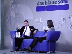 Martin Suter auf dem Blauen Sofa 11.10.2012, via Flickr. Sofa, Blue, Settee, Couch, Couches