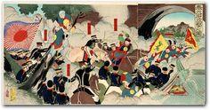 """The Battle of Mukden"" by Shunsai Toshimasa, 1894."