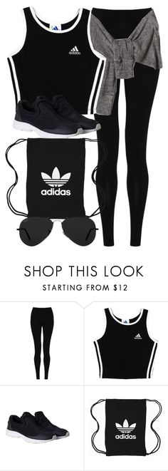 """Style #11122"" by vany-alvarado ❤ liked on Polyvore featuring M&S Collection, adidas, Monki, adidas Originals and Ray-Ban"