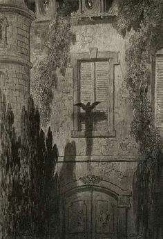 Gustave Doré (French, 1832-1883), illustration for Edgar Allan Poe'sThe Raven