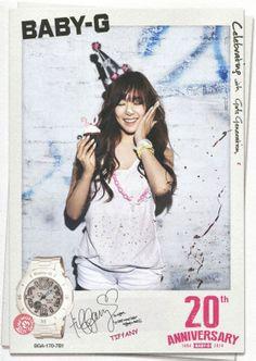 SNSD Tiffany BabyG 20th anniversary advert