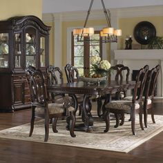 Samuel Lawrence D3530 Dining Room Set - Dining Rooms - Triad Furniture Distributors - 1