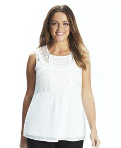 Lace Trim Blouse at Simply Be