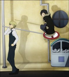 Just an average morning for Izaya Orihara. It's what he does for a living, make people's lives a living hell...