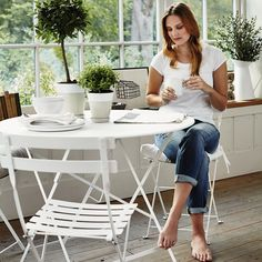 Folding Bistro Table   The White Company