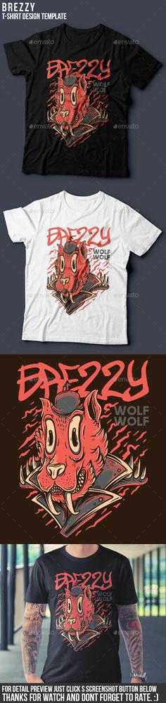 Brezzy T-Shirt Design  #vector #editable #design #tshirt, #tees #cloth #clothingline #unique #awesome #cool #badass #nice #online #shop #brand #artwork #freelance #custom #apparel #product #bussiness #community #brezzy #wolf #trippy #rockabilly #red #nowadays #custom