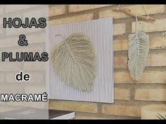 How To Make A Macrame Feather Wall Hanging - Tutorial For Beginners: In this tutorial, I show you how to create Macrame Feathers and assemble them into a wal. How To Do Macrame, Macrame Art, Crochet Feather, Love Crochet, Macrame Bracelet Tutorial, Macrame Bracelets, Japanese Ornaments, Crafts To Do, Diy Crafts