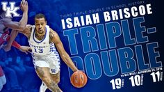 Prior to this season, UK had just one triple-double in school history since the program's inception in 1903. We have two this season.