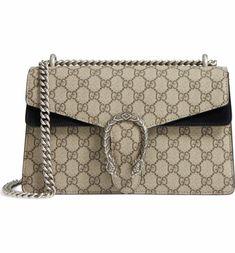 Main Image - Gucci Small Dionysus GG Supreme Canvas & Suede Shoulder Bag