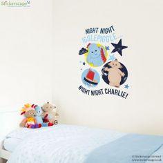 Personalised night night Igglepiggle wall sticker