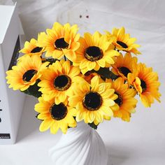 1 Branch Living Room Decoraton Artificial Sunflower #jewelry, #women, #men, #hats, #watches, #belts