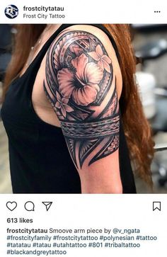 25 Meaningful Hawaiian Tattoo Designs To Try In 2019 - Page 2 of 31 - Find Tattoos Online Hawaiian Tattoo Meanings, Hawaiian Flower Tattoos, Tribal Flower Tattoos, Hawaiian Tribal Tattoos, Samoan Tribal Tattoos, Arm Tattoos Abstract, Geometric Tattoos, Polynesian Tattoos Women, Tribal Tattoos For Women